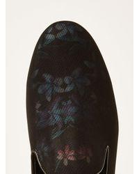 Topman - Black Duke Floral Loafer for Men - Lyst