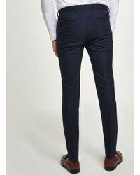 Topman - Blackwatch Ultra Skinny Suit Trouser for Men - Lyst