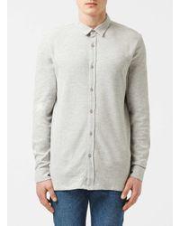 TOPMAN | Orange Selected Homme Grey Jersey Shirt for Men | Lyst