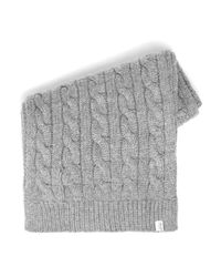 SELECTED - Gray Grey Textured Pattern Scarf for Men - Lyst