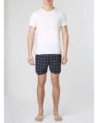 TOPMAN - Blue Selected Homme Navy Swim Shorts for Men - Lyst