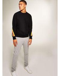 Topman - Black Back Taping Sweatshirt for Men - Lyst