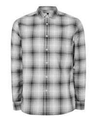 TOPMAN   Gray Grey Pixel Checked Casual Shirt for Men   Lyst