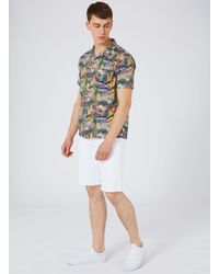 Topman | Multicolor Heron Print Short Sleeve Casual Shirt for Men | Lyst