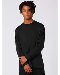 Topman | Black Formal Long Sleeve T-shirt for Men | Lyst