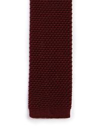 Topman - Red Burgundy Knitted Tie for Men - Lyst