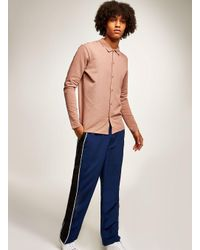 SELECTED - Pink Polo for Men - Lyst