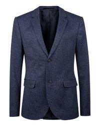 Topman - Blue Navy Jersey Skinny Fit Blazer for Men - Lyst