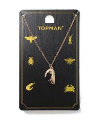 Topman - Metallic Gold Shrimp Necklace for Men - Lyst