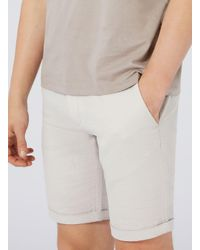 SELECTED | Brown Stone Ribbed Slim Shorts for Men | Lyst
