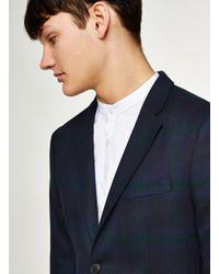 Topman - Blackwatch Ultra Skinny Suit Jacket for Men - Lyst