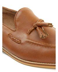 TOPMAN - Brown Tan Leather Tassel Loafers for Men - Lyst