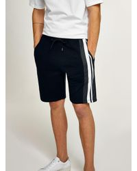 Topman - Blue Navy Side Stripe Jersey Short for Men - Lyst