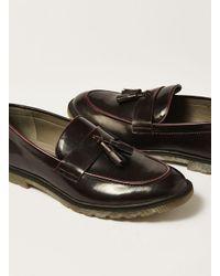 Topman - Red Burgundy Patent Preston Penny Loafer for Men - Lyst