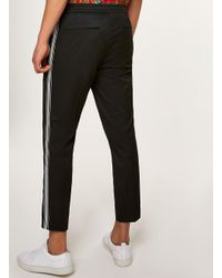 Topman - Black Side Taping Smart Jogger for Men - Lyst