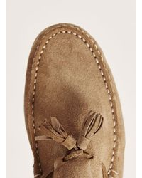 Topman - Brown Tan Suede 'stone' Tassel Loafer for Men - Lyst