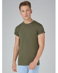 Topman - Green Skinny Fit Roller T-shirt 3 Pack for Men - Lyst