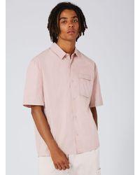 Topman - Ltd Pink Short Sleeve Shirt for Men - Lyst