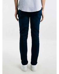Topman - Blue Navy Stretch Skinny Chinos for Men - Lyst