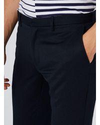 Topman   Blue Navy Birdseye Skinny Pants for Men   Lyst