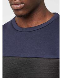 Topman | Purple N1sq Cut And Sew Colour Block Sweatshirt* for Men | Lyst