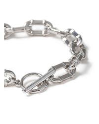 Topman - Metallic Ilver Industrial Chain Bracelet for Men - Lyst
