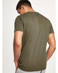 Calvin Klein - Multicolor Khaki Logo T-shirt for Men - Lyst