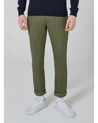Topman - Farah Vintage Green 'elm' Chinos for Men - Lyst