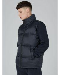 Topman - Blue Vision Street Wear Navy Ripstop Puffer Gilet for Men - Lyst