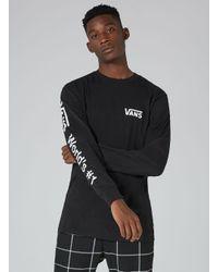 Topman - Vans Black 'number One' Top for Men - Lyst