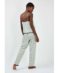 TOPSHOP - Multicolor Elephant Print Pyjama Set - Lyst