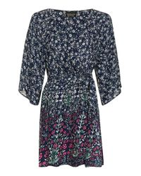 TOPSHOP | Blue Demi Lace Shift Dress | Lyst