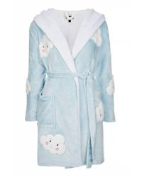 TOPSHOP | Blue Cloud Robe | Lyst