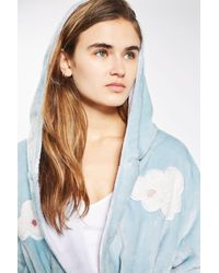 TOPSHOP Blue Cloud Robe