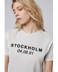 TOPSHOP - White Stockholm Tee - Lyst