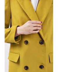 TOPSHOP - Multicolor Double Breasted Midi Coat - Lyst