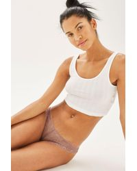 TOPSHOP | Natural Lace Thongs | Lyst