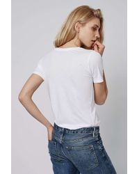 TOPSHOP - White Soft Washed Tee - Lyst