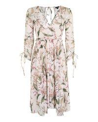 TOPSHOP | White Mesh Midi Dress | Lyst