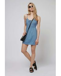 TOPSHOP - Blue Crochet Lace Sundress - Lyst