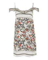 TOPSHOP - Multicolor Border Lace Slip Dress - Lyst