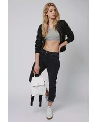 TOPSHOP - Black Quilted Ma1 Bomber Jacket - Lyst