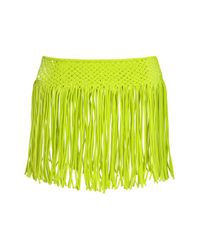 TOPSHOP | Green Macramé Fringed Skirt By Kendall + Kylie At | Lyst