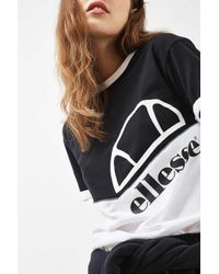 Ellesse - Black Pipe Box T-shirt - Lyst