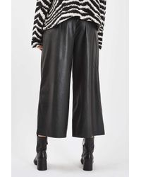 TOPSHOP | Black Faux Leather Awkward Trousers | Lyst