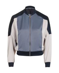 TOPSHOP - Multicolor Colour Block Bomber Jacket - Lyst