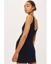Love - Blue Twist Front Dress By - Lyst