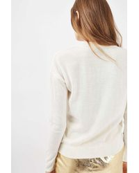 TOPSHOP - White Mistletoe Kisses Jumper - Lyst
