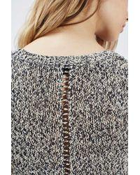 TOPSHOP - Black Ladder Detailed Knit Vest - Lyst