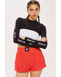 f25262a10ff93d TOPSHOP Long Sleeve Super Cropped Top By Ivy Park in Black - Lyst